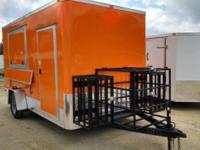 6x12 Flat Nose Concession Trailer. This BBQ Trailer is
