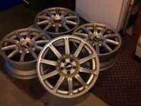 - 17in. x 7.5in. BBS WHEELS - 5 LUG - GOOD CONDITION