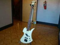 Old school Bolt on NJ Series Mockingbird Bass guitar in