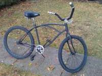 Hi, Up for sale is sweet blacked out beach cruiser. I