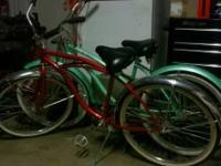 Red beach cruiser in good condition. $120 OBO Call or