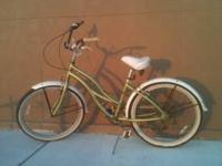 Used Beach Cruiser Bike 26 inch fat white wall tires