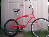 All set to ride ... Red Huffy -Good Vibrations $35. Ape