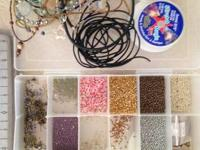 Beading/jewelry making supplies, including pearls,