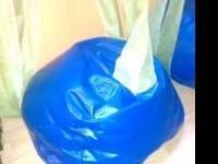 2 blue beanbags 5 each. Little tykes shopping cart 15.