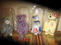 Description 207assorted beanie babies in protective