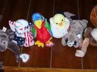 ALL BEANIE BABIES HAVE TAGS ATTACHED UNLESS NOTED FOR
