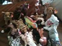 Tye Beanie baby lot, 16 various animals. Make an