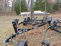 This is a 2006 Bear 20' tandem axle boat traler with