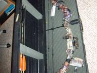 Barely used fully equipped Bear Archery compound bow,