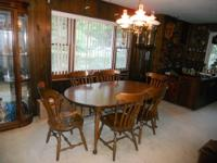 Selling a beautiful solid walnut wood antique Dining