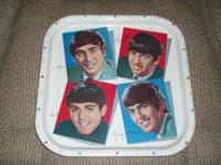 For Sale: BEATLES METAL SERVING TRAY W/ WORCESTER WARE