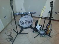 Complete Beatles Rockband setup for Xbox with two
