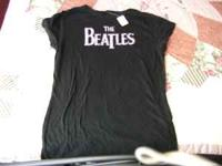 BRAND SPANKIN NEW BEATLES T SHIRT/GIRLS WITH BRIGHT