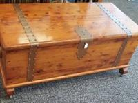 Here is a very vintage gorgeous cedar chest from the
