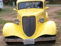 "Beautiful classic Yellow 1933 Ford ""Vicky,"" 2 door,"