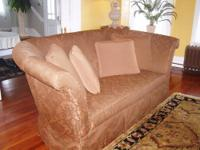 Beautiful 9ft sofa with matching chair plus 1 accent