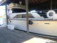 Meticulously maintained 44 FT. Trojan Flybridge