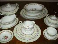 "THIS 68 PIECE WENTOWRTH CHINA SET IN PATTERN ""TULIP"""
