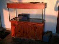 Glass 75gal. Aquarium with Beautiful woodwork. Wood