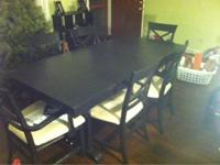 Gorgeous 9 piece dining space table completely brought