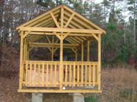 Beautiful 10x17 custom Amish made gazebo/pavillion with