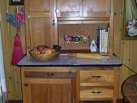 "Antique ""Hoosier-style"" kitchen cabinet in great"