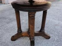 This is a beautiful  sturdy solid oak antique