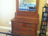 I am selling an antique oak dresser with the original