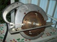 Antique Thor Circular Saw. Aluminum Case. Steel Gears.