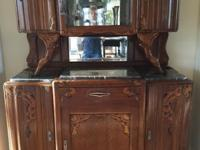 Gorgeous Art Deco cabinet with marble top - This is a