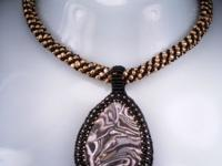These beautiful necklaces were created using only the