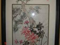 Beautiful handpainted Chinese style artwork does not go