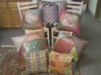 Beautiful assorted decor pillows. Lg 7.50 ea. Med