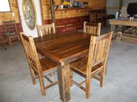 Our furniture is built from barnwood that originated