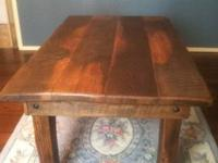 This gorgeous table is made of reclaimed 8/4 150 yr old