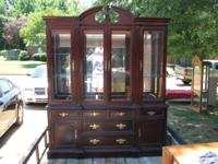 Beautiful basset cherry china cabinet!!! unbelievable