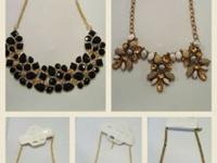 Beautiful bib style statement necklaces. Bought at an