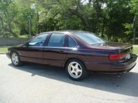 Beautiful Black Cherry GARAGED ONE OWNER 1996 Impala SS