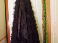 Long black prom outfit. Strapless. Just worn one time!