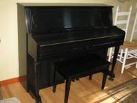 Gorgeous black Samick Upright Piano. Purchased NEW at