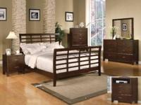 8150 Bedroom Set. Consists of Queen Bed, Dresser,