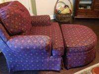 Beautiful Chair and Ottoman for sale...in great
