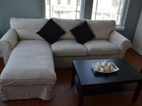 Perfect condition L Shaped Sofa, its sand-cream color