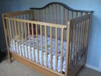 For sale is a beautiful Crib, we used it for our son