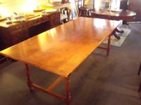 Beautiful Curly Maple Dining Table. If you've never