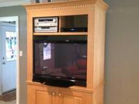 Beautiful Large Solid Oak Armoire that was custom built
