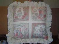 "A beautiful Decorative pillow - 19"" square - Pillow has"