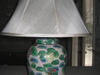 Designer Water Lily Motif Lamp. $150. Reduced ~ $120.