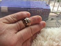I have a beautiful engagement and wedding ring for